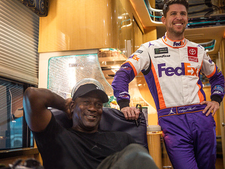 MICHAEL JORDAN AND DENNY HAMLIN PARTNER TO FORM NEW NASCAR TEAM