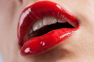 Schioccare le labbra rosso Bocca