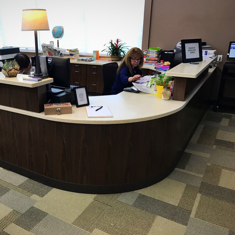 Custom Circulation Desk