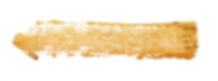 Strokes of golden paint isolated on whit