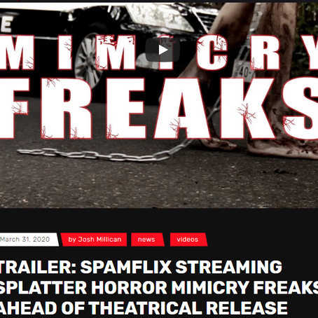 Splatter Horror 'Mimicry Freaks' streaming on Spamflix ahead of theatrical Release