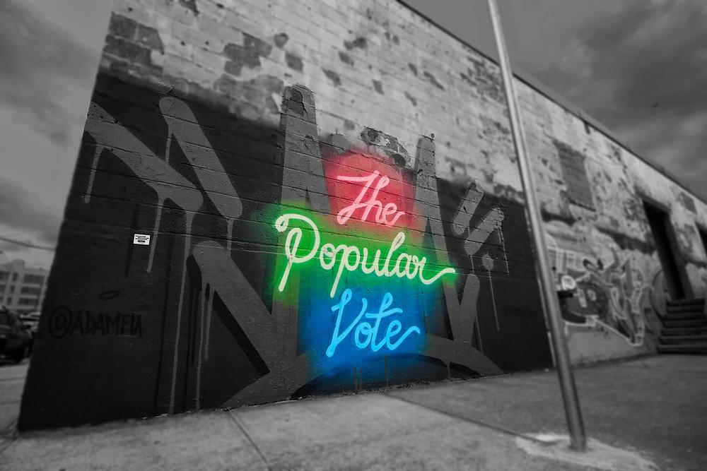 """The Popular Vote"" by Adam K Fujita; photo by Joanna Pan"