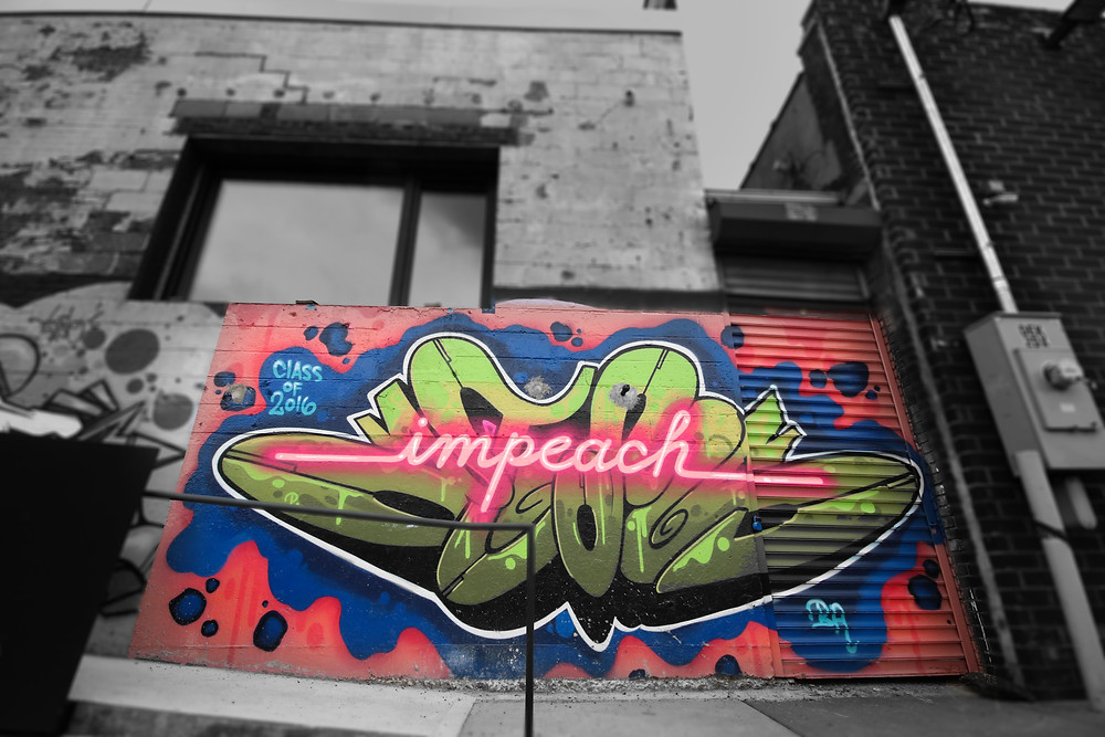 """Impeach"" by Adam K. Fujita; photo by Joanna Pan"