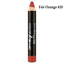 Maybelline Color Drama by Color Show Intense Velvet Lip Crayon - Fab orange