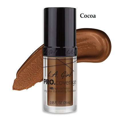 L.A.Girl Pro Coverage Illuminating Foundation -Cocoa