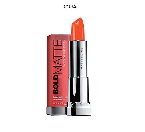 Maybelline color sensational bold matte lipstick-Coral