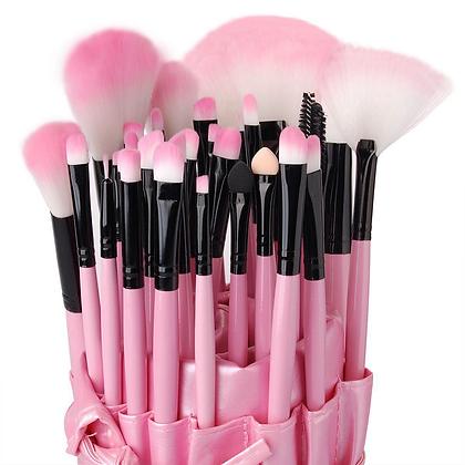 32pcs Pink Makeup Brush Set
