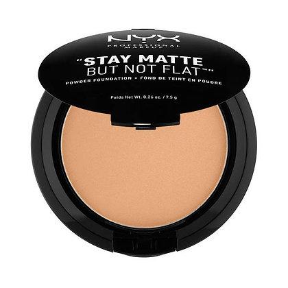NYX Stay Matte But Not Flat Powder Foundation- Nutmeg