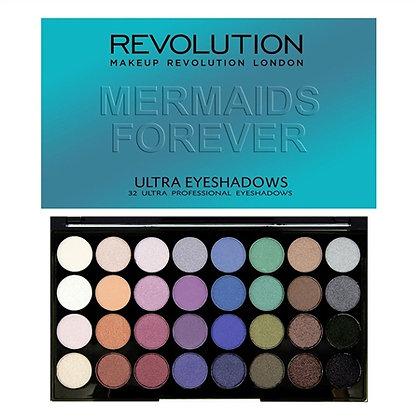 Revolution Ultra 32 Shade Eyeshadow Palette - Mermaids Forever