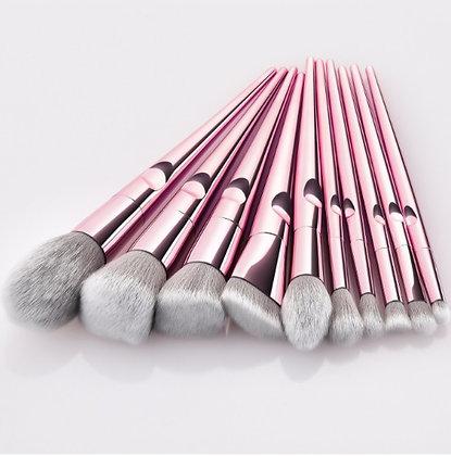 10pcs Light Rose-Gold Makeup Brush Set