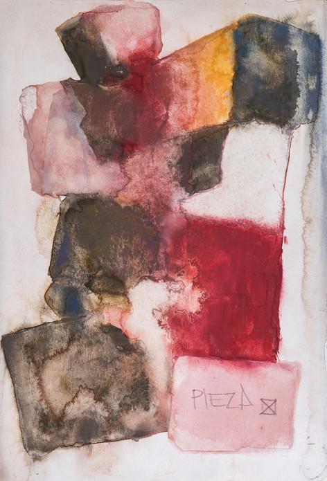 """COLOR COMPOSITION"" [PIEZA X ] | Homemade watercolor & pencil on paper | 14,5 x 21,5 cm"