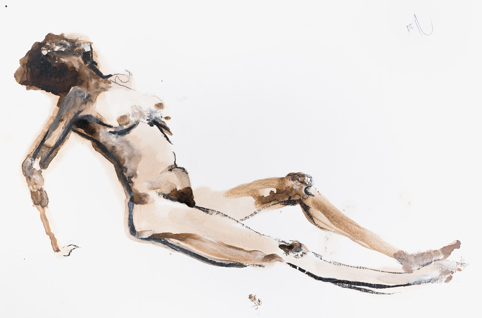 """UNTITLED"" [WOMAN NAKED ON THE FLOOR] 
