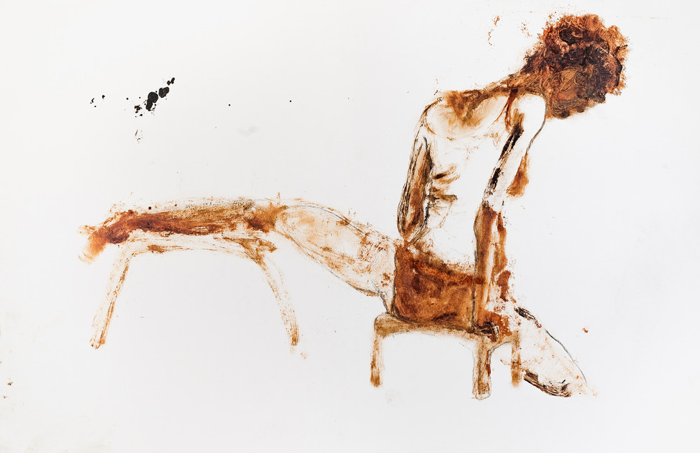 """UNTITLED"" [WOMAN WITH LEG ON TOP OF A CHAIR ] 