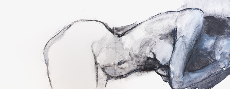 """LYING DOWN NAKED"" 