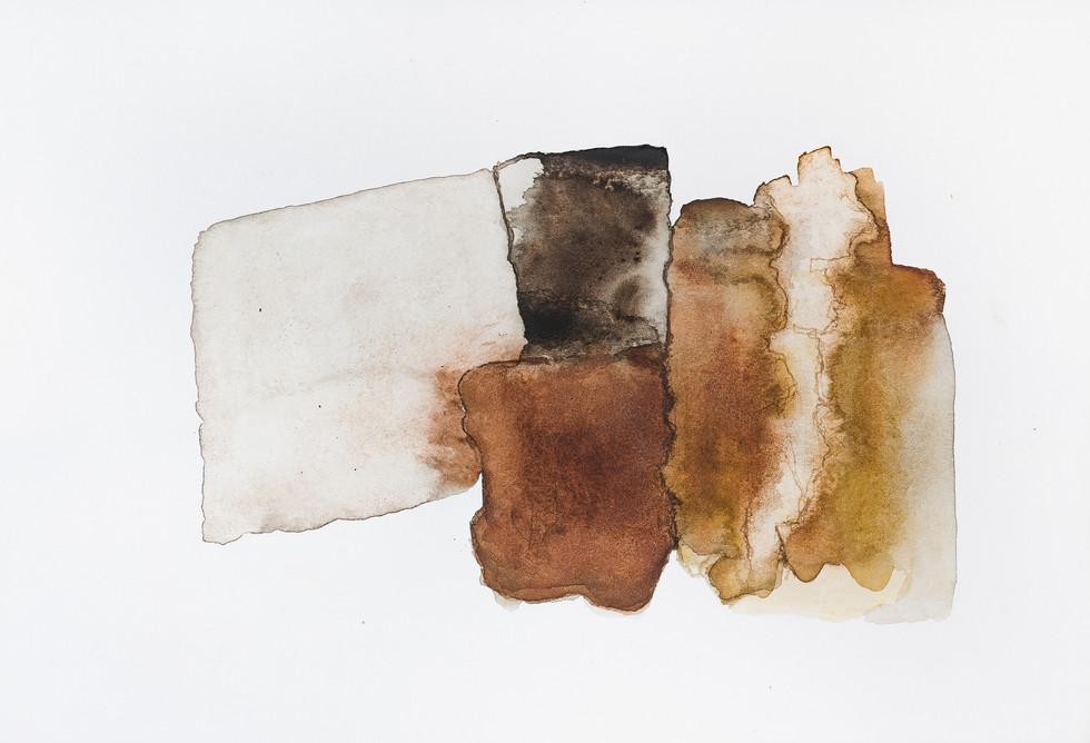 """BREAKFAST"" | Watercolor, body paint & pencil on paper | 21,5 x 14,5 cm"