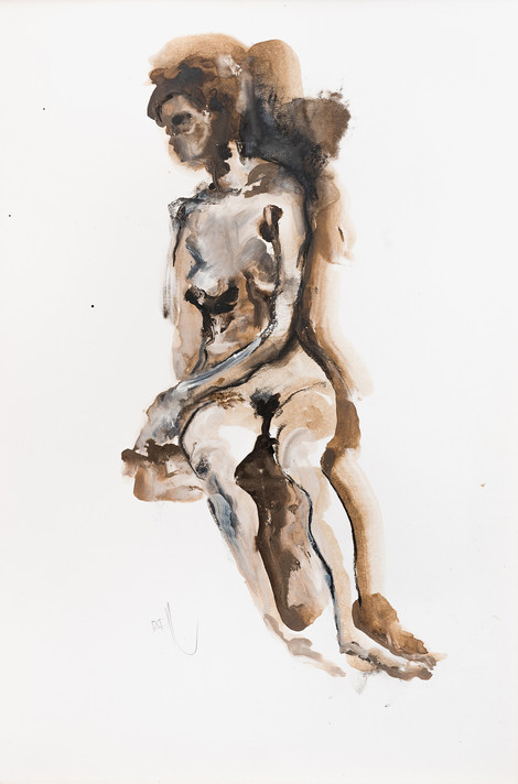 """UNTITLED"" [WOMAN NAKED ON A CHAIR] 