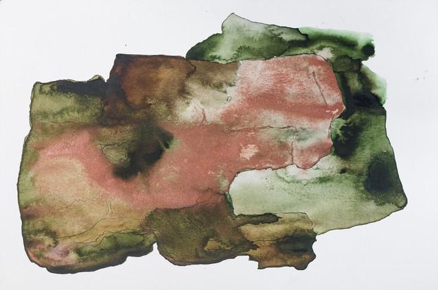 """RUST"" | Watercolor, body paint & pencil on paper | 21,5 x 14,5 cm"