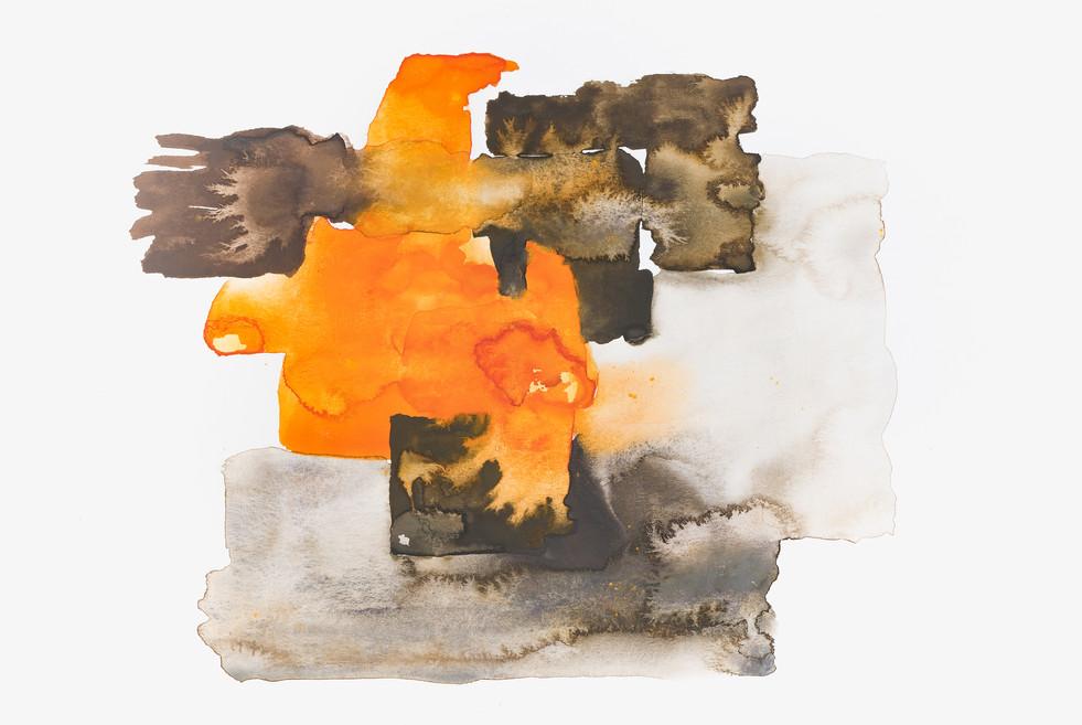 """INCENDIES"" | Handmade watercolor on paper | 29,7 x 20 cm"