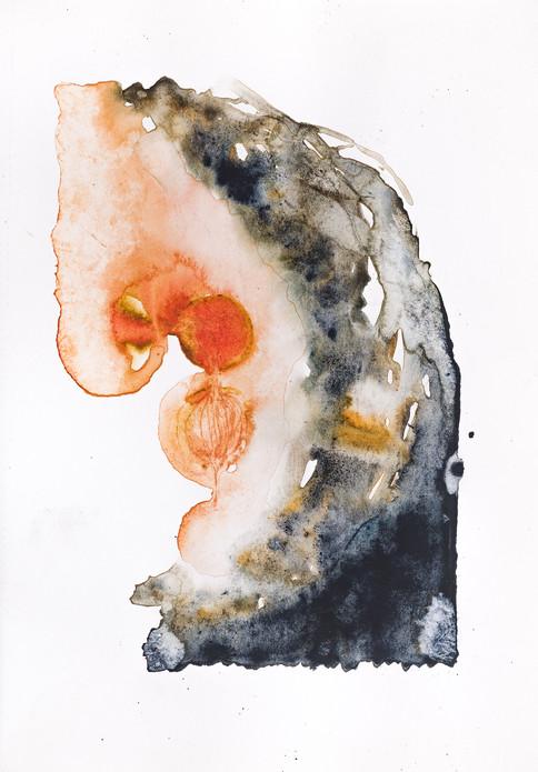 """CHIMERA"" | Watercolor & pencil on paper | 14,5 x 21,5 cm"