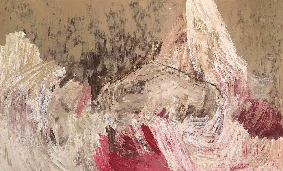 """SACRIFICE"" | Acrylic & pencil on board | 200 x 122 cm"