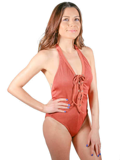 """Karina"", Front Lace Up One piece"
