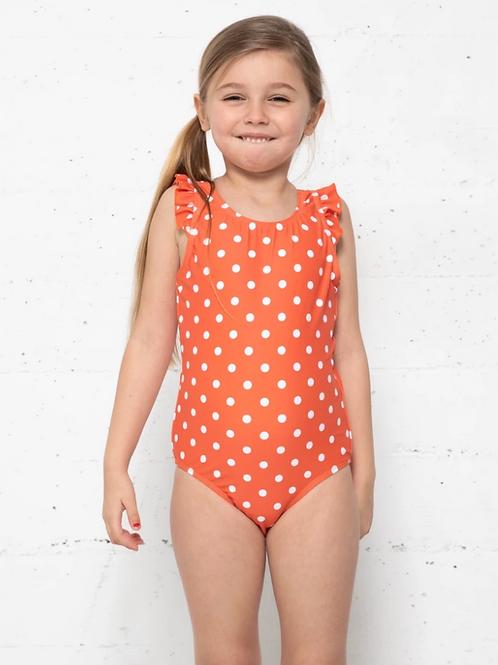 Tatiana, Children's Orange and White polka dot