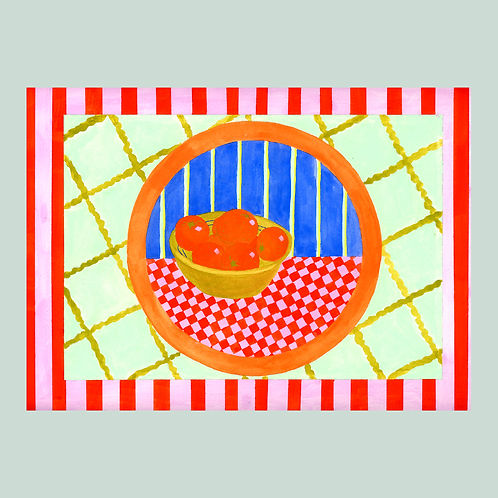 Checker Table painting