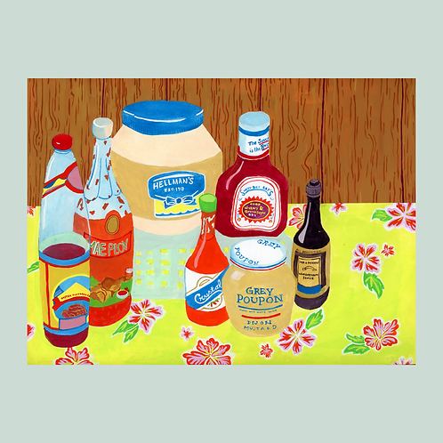 Condiments painting