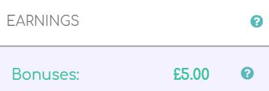 Proof of £5 bonus