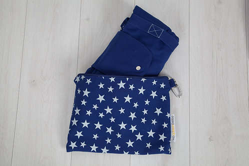 2 bag set - blue / grey