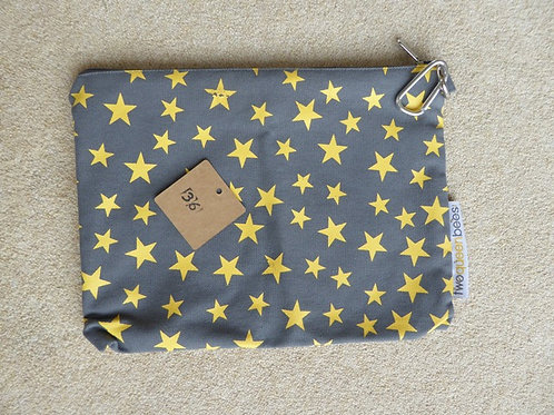 star print fault (36) - dark grey pouch bag only