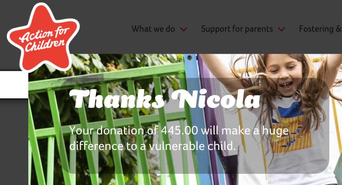 #charitydonation #actionforchildren