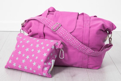 big bag - pink / grey