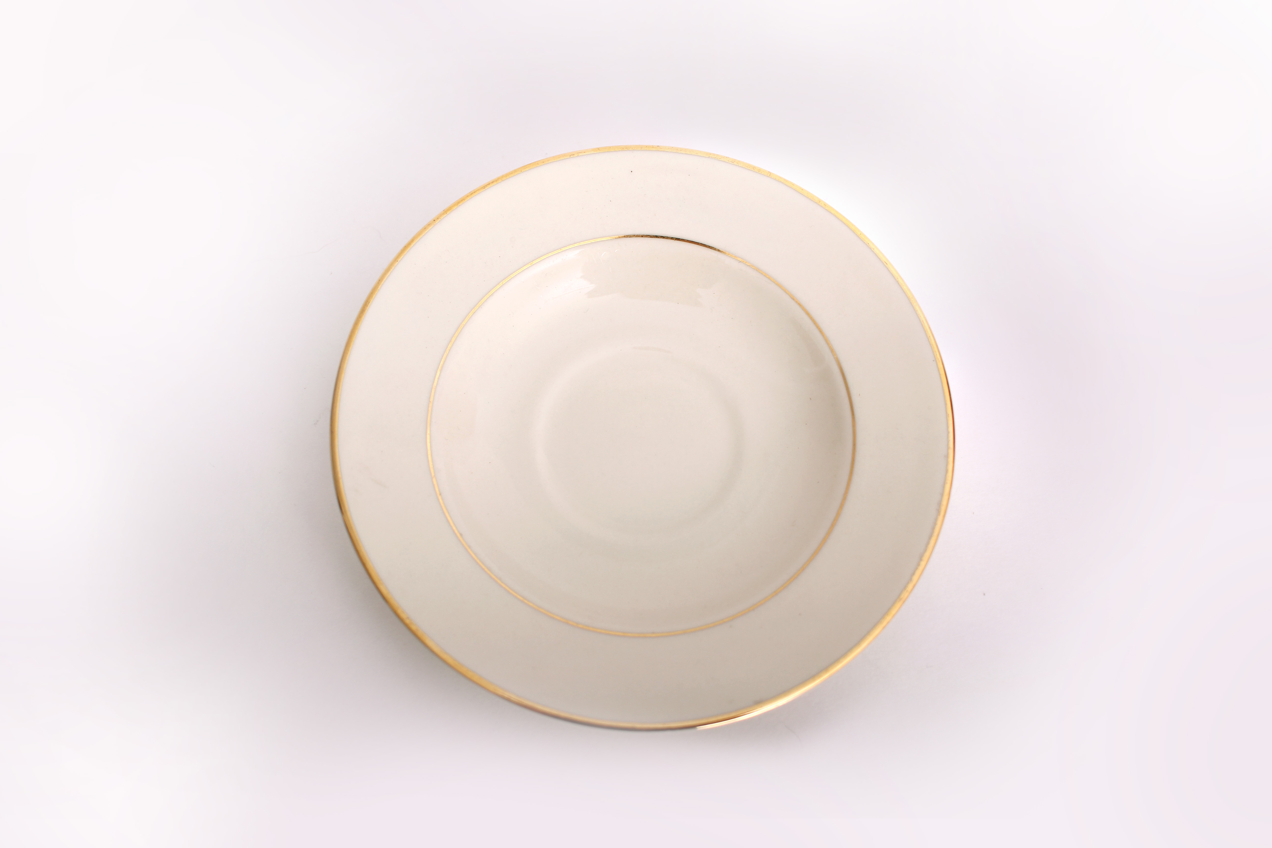 Ivory Gold Saucer