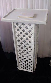 Guest Book Stand Rental, Guest Book Stand, Podium Rental, York, PA Rental