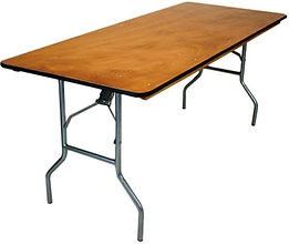 Economy Wooden Banquet Table, Table Rental, York, PA Rental