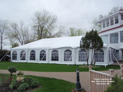 White Frame Tent with Sides
