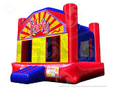 Party Bounce House Blue