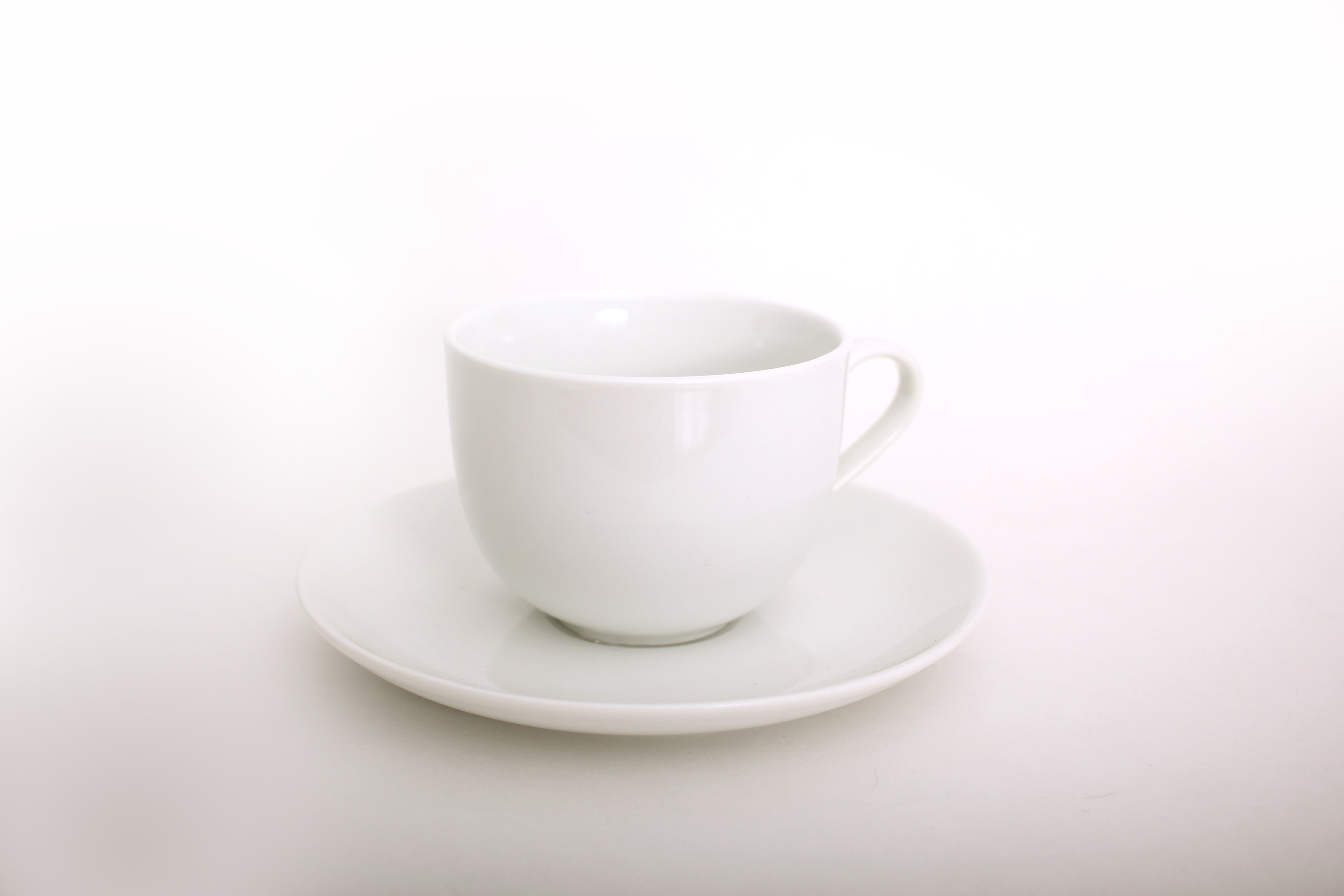 Classic White Tea Cup & Saucer