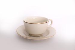 Ivory Gold Tea Cup & Saucer