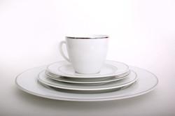White Platinum Dinner Set