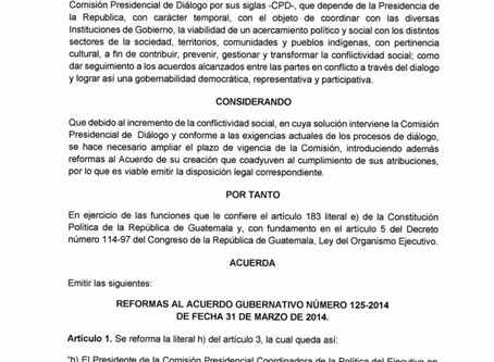 ACUERDO GUBERNATIVO No. 182-2019