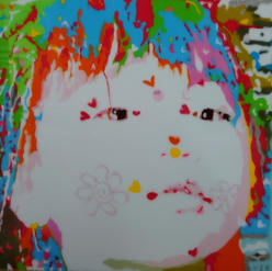YuuchiTanaka-Pretty but Moody18x18 Acrylic,mixed media on board2021$2800.jpg
