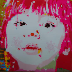 YuuchiTanaka-Whispering18x18 Acrylic,mixed media on board2021$2800.jpg
