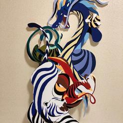 NatsuyaMyoui-Four holy beasts43x 30Acrylic on styrene board2021$2000.jpeg