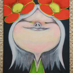 Chikako Nunome-Girl with red flower 24 x 29Acrylic on Canvas2021$300.jpeg