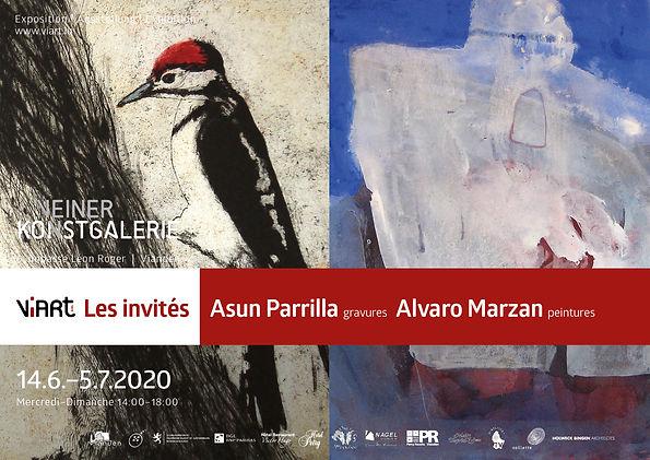Viart Affiche Expo Asun Parrilla Alvaro