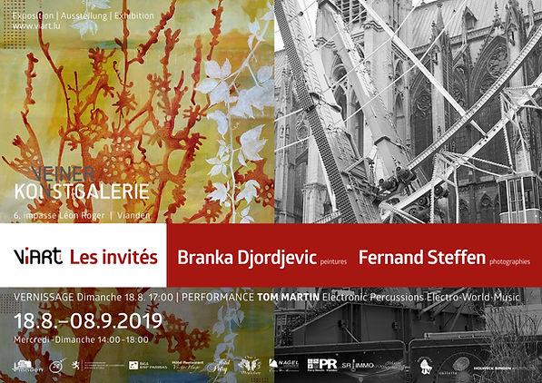 Viart Affiche Expo  Branka Djordjevic Fe