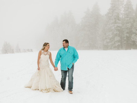 Lily & Tyler Casper Mountain Elopement