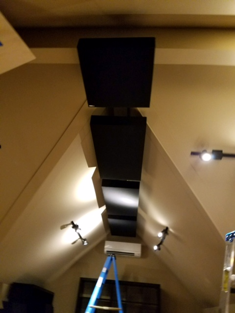 Acoustical Panels on Ceiling